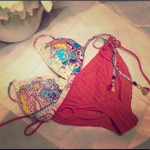 Brand New Boho Style Bikini. Never Worn. NWOT